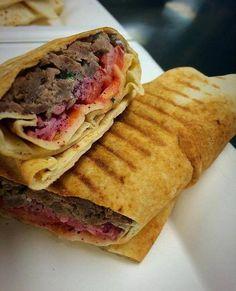 Brad Seehawer enjoys Meddy's beef shawarma sandwich at least once a month.