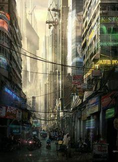 Futuristic Mumbai  by Raphael Lacoste