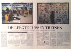 Sef Berkers. 'The void between trains'. An article in De Standaard, Belgium. An interview with journalist Gilbert Roox about my exhibition 'Je suis à la gare 1' in gallery Van Laethem in Rekem and about my work as an artist on train stations all over Belgium.