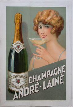 Champagne Andre-Laine. Available at PosterMuseum.com by Philip Williams Posters NYC