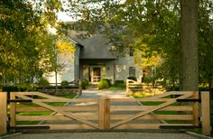 Doyle Herman Design Associates is an award-winning landscape design firm that creates extraordinary design by integrating artistic expression within the contextual perspective of the presented architecture. Farm Gate, Fence Gate, Front Gates, Entrance Gates, Porches, Driveway Entrance, Farm Entrance, Wooden Gates, Casa Real