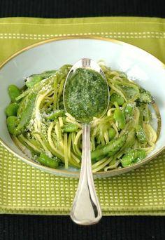 Pâtes fraîches aux fèves et aux asperges : recette pâtes fraîche aux fèves et aux asperges - Recettes diabète: 10 recettes pour les diabétiques