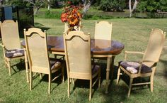 Vintage French Shabby Chic Dinning Table & 6 Chairs by tsfunder, $550.00