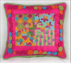 Garden Party Heart, stitched by Ruth Schmuff