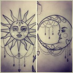 """""""and the sun loved the moon so much he died every night just to let her breath""""  inspiration for corey and i's tattoo"""