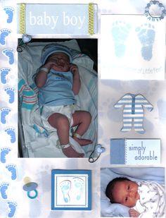 scrapbook ideas | Scrapbook Ideas For Baby Boy