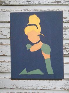 Hand Painted Disney Princess Inspired Paintings by PrincessPark, $20.00
