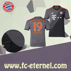 fc-eternel:Maillot Bayern Munich GOTZE 19 Exterieur 2016/2017 Flocage Maillot Bayern Munich, Lewandowski, Football, Sports, Flocking, Baby Born, Woman, Soccer, Hs Sports