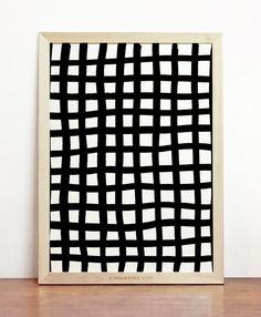 Abstract Geometric Poster Modern Scandinavian Design Print Black White Stripes Lines Wall Art Decor Minimalist Marker Handmade Modernist by Cincuentas on Etsy https://www.etsy.com/listing/159127133/abstract-geometric-poster-modern