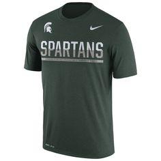 Michigan State Spartans Nike Staff Sideline Dri-FIT Legend T-Shirt - Green - $22.99