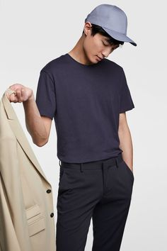BASIC REGULAR FIT T-SHIRT from Zara Polo Shirt, T Shirt, Polo Ralph Lauren, Zara, Long Sleeve, Fitness, Sleeves, Mens Tops, Fashion