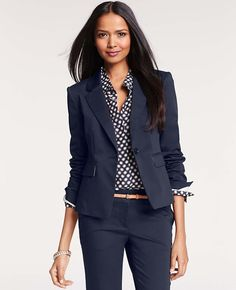 Ann Taylor: A navy suit could be nice! I feel like the pieces would be easy to mix with other pieces