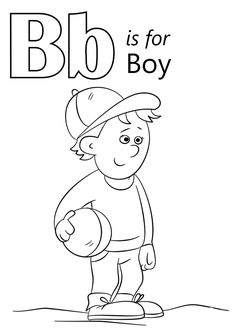 Letter B Coloring Sheets Unique Letter B is for Boy Coloring Page Letter B Coloring Pages, Bee Coloring Pages, Coloring Letters, Boy Coloring, Butterfly Coloring Page, Online Coloring Pages, Coloring Pages For Boys, Free Printable Coloring Pages, Coloring Sheets