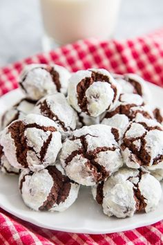 Chocolate Crinkle Cookies by thekitchn: With one bite you'll discover a rich and indulgent flavor that's more reminiscent of a truffle than a cookie. #Cookies #Chocolate_Crinkle