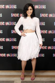 VANESSA HUDGENS at the Spring Breakers Photocall in Madrid