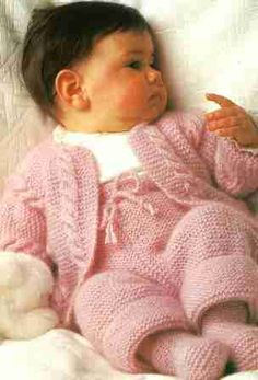 Vintage Baby Knitting Pattern PDF No 0183 From Timelessone Shop