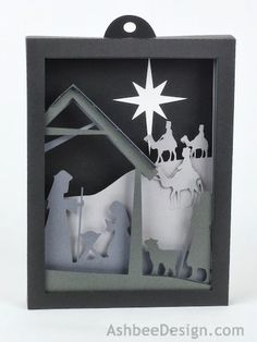 Ashbee Design Silhouette Projects - Christmas Nativity in layers. Tutorial