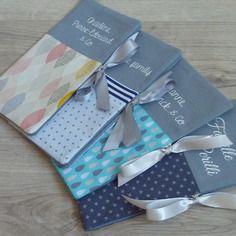 Sur commande ★ cadeau de mariage original ★ housse pour livret de famille + carnet de santé personnalisé