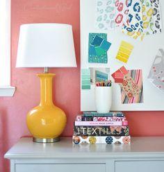 Fun yellow lamp (Target Threshold brand)