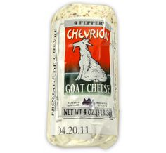 Chevrion Goat Cheese with Peppers available in select retailers nationwide in 4 oz. logs. Use to top rice-stuffed, multi-colored peppers or bake into a frittata to add a punchy note.