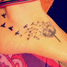 dandelion tattoo on foot - Google Search