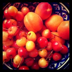 Summer cherries from Bastille market Last Supper, Bastille, Cherries, Sweets, Vegetables, Summer, Food, Eruca Sativa, Maraschino Cherries