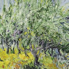 Bobbie Burgers - Olive Grove of St. Remy: Laced Filigree