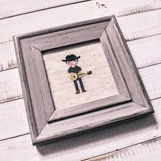 This cowboy turned out so cute. I just love his boots and his hat. Bothy, Cross Stitch Embroidery, Hat, Frame, Gifts, Inspiration, Presents, Biblical Inspiration, Hats