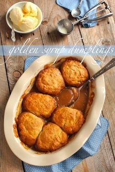 Nothing says winter warmer than a golden syrup dumpling dish! Uk Recipes, Sweet Recipes, Baking Recipes, British Recipes, Easy Recipes, Recipies, Golden Syrup Dumplings, Sweet Dumplings, Hot Desserts