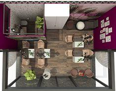 Beauty Salons, My Design, Furniture Design, Container, Behance, Profile, Dreams, Interior Design, Gallery