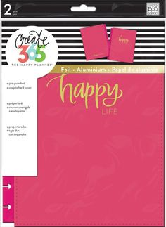 Me & My Big Ideas Create 365 Classic Snap-in Hard Cover Planner-happy Life for sale online Arc Planner, 2017 Planner, Life Planner, Planner Ideas, Planner Book, How To Become Happy, Are You Happy, Happy Planner Accessories