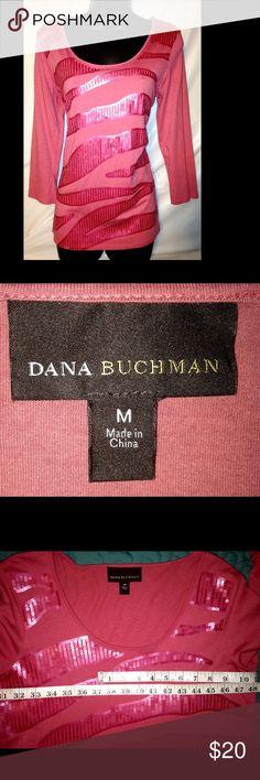 Dana Buchman Women's Sweater Dana Buchman Women's Sweater Top Size Medium. Coral color. Dana Buchman Tops