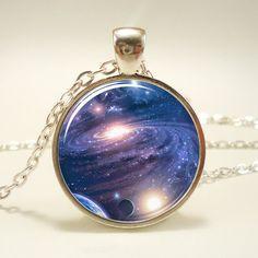 Galaxy Necklace Nebula Jewelry Stars And Universe by rainnua, $14.45