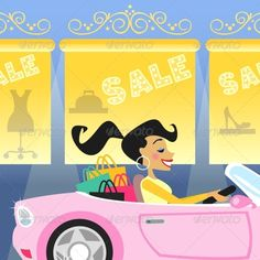 Girl Shopping in Car  #GraphicRiver         Shopping girl in luxury car goes for sale vector illustration. Editable EPS and Render in JPG format     Created: 12November13 GraphicsFilesIncluded: JPGImage #VectorEPS Layered: No MinimumAdobeCSVersion: CS Tags: attractive #bag #buyer #car #clothes #clothing #discount #dress #fashion #fashiongirl #fashionable #female #girl #girlsnightout #hands #luxury #match #outfit #pleasure #poster #print #sale #shopping #shoppingbag #shoppingcar #shoppinggirl…