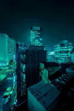 city street at night Dark Green Aesthetic, Aesthetic Colors, Aesthetic Pictures, Level Design, Neon Noir, Slytherin Aesthetic, Paris Ville, Night City, Cyberpunk