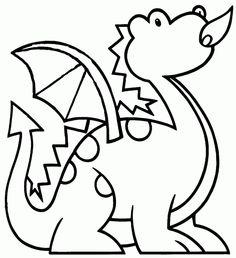 Drachen 8 Ausmalbilder
