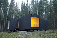 A Finnish house, dark and spare
