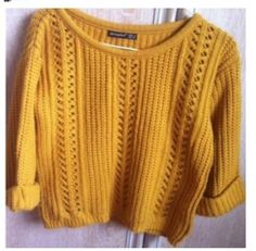 Mustard Chunky Knit Size 8 Jumper Atmosphere Topshop New Look | eBay