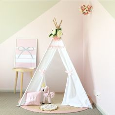 """Laura & Offspring on Instagram: """"So much teepee love for this little number by @little_threadz be sure to check them out 😍 #teepee #girl #girly #gthome #girlroom…"""""""