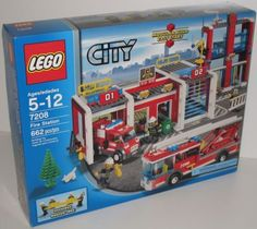 Lego City Fire Station set 7208. Great gift idea for a fireman and his family!