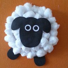 Cotton Ball Sheep Craft                                                                                                                                                                                 More