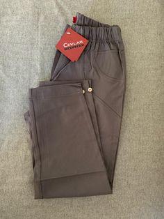 Spodnie z bengaliny Cevlar B08 kolor grafitowy - Big Sister