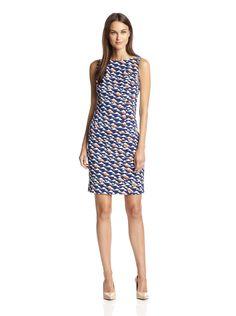 London Times Women's Sleeveless Printed Sheath Dress at MYHABIT ($49, sz 6, added to waitlist)