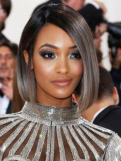 7 Hair and Makeup Looks to Try Every Day This Week: Jourdan Dunn's silver smoky eyes | Allure.com