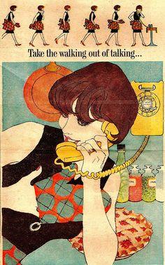 Illustration by Al Parker, 1960's, Newspaper ad.