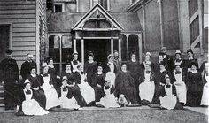 Photograph - Nursing staff at Christchurch Hospital , Christchurch City Libraries Heritage Photograph Collection City Library, Pre And Post, Nursing, Restoration, Empire, British, Photograph, Victorian, History