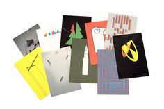 A set of postcards by graphic designer Nikolay Kovalenko