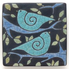 Hey, I found this really awesome Etsy listing at https://www.etsy.com/listing/232468625/birdstreeceramic-wall-art-aqua-turquoise