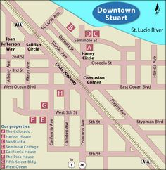 downtown stuart florida map