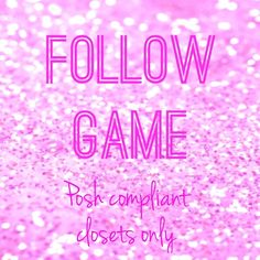 Follow Posh compliant closets here  Hello ladies! Let's grow our followers together!! Like Share Follow all Poshers who liked this post Other